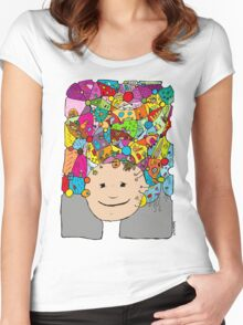 all the world in my head Women's Fitted Scoop T-Shirt