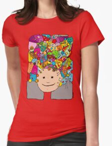 all the world in my head Womens Fitted T-Shirt