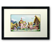 Ponyville, Noon Framed Print