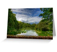 The River Itchen from a Bridge at Itchen Stoke Greeting Card