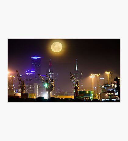 Moonrise over Melbourne Photographic Print
