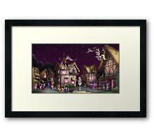 Ponyville, Dusk Framed Print