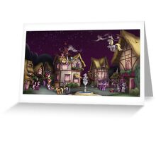 Ponyville, Dusk Greeting Card