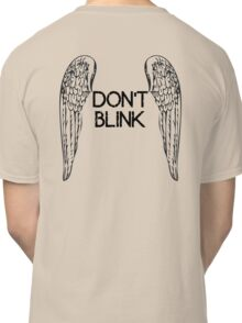 [Doctor Who] Don't Blink - Wings (Black) Classic T-Shirt