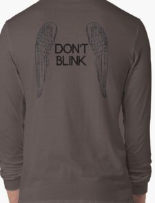 [Doctor Who] Don't Blink - Wings (Black) Long Sleeve T-Shirt