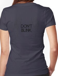 [Doctor Who] Don't Blink - Wings (Black) Womens Fitted T-Shirt