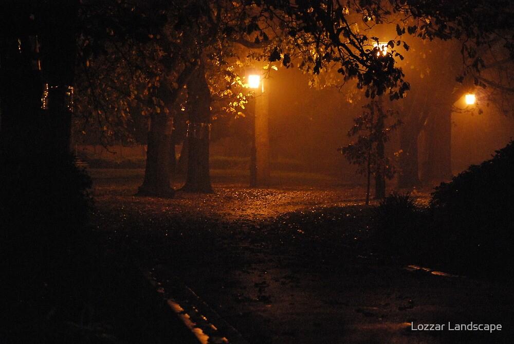 Foggy Night Rosiland Park by Lozzar Landscape