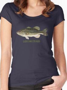 Largemouth Bass (T-shirt) Women's Fitted Scoop T-Shirt