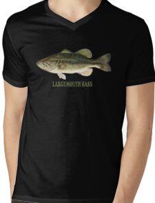 Largemouth Bass (T-shirt) Mens V-Neck T-Shirt