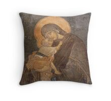 Virgin Mary and Son Throw Pillow