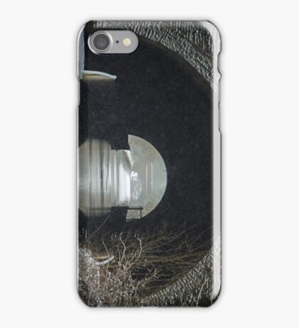 Snowing on the Oxford Canal Newbold Tunnel  iPhone Case/Skin