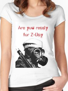 are you ready z-day Women's Fitted Scoop T-Shirt