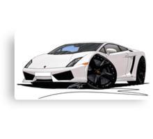 Lamborghini LP560/4 Pearl White [BLK] Canvas Print