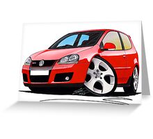 VW Golf GTi (Mk5) Red Greeting Card