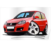 VW Golf GTi (Mk5) Red Poster