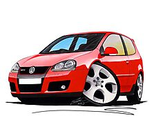 VW Golf GTi (Mk5) Red Photographic Print