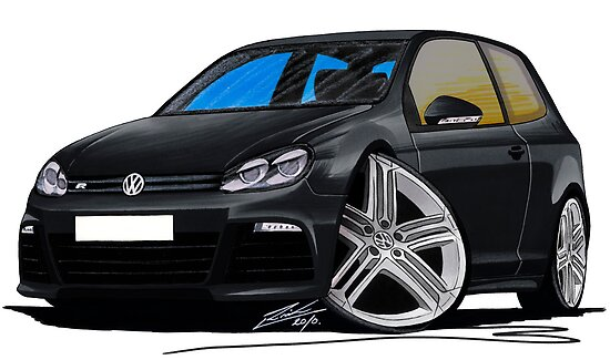 VW Golf R Black by Richard Yeomans