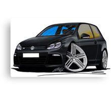 VW Golf R Black Canvas Print