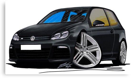 VW Golf R Black by Richard Yeomans