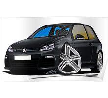 VW Golf R Black Poster