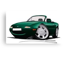 Mazda MX5 (Mk1) British Racing Green Canvas Print