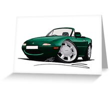 Mazda MX5 (Mk1) British Racing Green Greeting Card