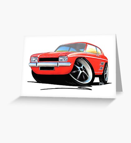 Ford Capri (Mk1) Red Greeting Card