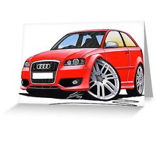 Audi S3 (Mk2) Red Greeting Card