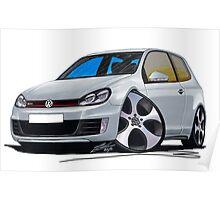 VW Golf (Mk6) GTi Silver Poster