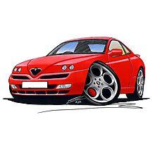 Alfa Romeo GTV Red Photographic Print