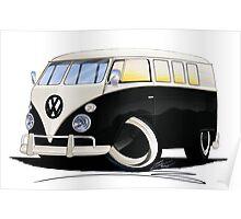VW Splitty (11 Window) Black Poster