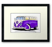VW Splitty (11 Window) Purple Framed Print