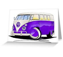 VW Splitty (11 Window) Purple Greeting Card