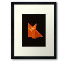 Cute Origami Fox Dark Framed Print
