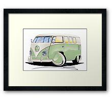 VW Splitty (11 Window) Pale Green Framed Print