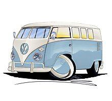 VW Splitty (11 Window) Pale Blue Photographic Print