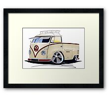 VW Splitty Pick-Up (RB) Framed Print