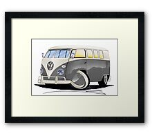 VW Splitty (11 Window) Grey Framed Print