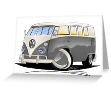 VW Splitty (11 Window) Grey Greeting Card