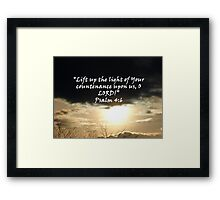 """Psalm 4:6""  by Carter L. Shepard Framed Print"