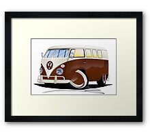 VW Splitty (11 Window) Brown Framed Print