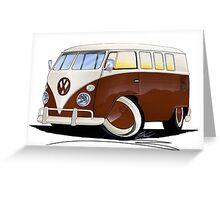 VW Splitty (11 Window) Brown Greeting Card