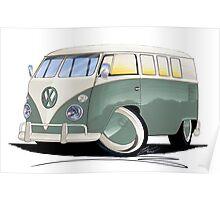 VW Splitty (11 Window) Pistachio Poster