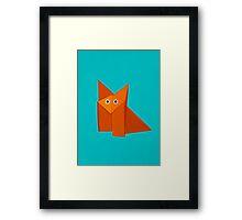 Cute Origami Fox Framed Print