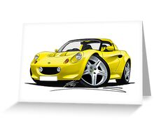 Lotus Elise S1 Yellow Greeting Card