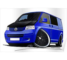 VW T5 (A) Blue Poster