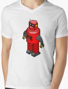 Tin toy robot Mens V-Neck T-Shirt
