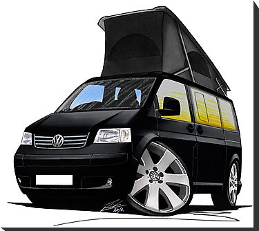 VW T5 California Camper Van Black by Richard Yeomans