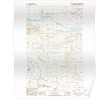 USGS Topo Map Washington State WA Frenchman Hills Lake 241223 1986 24000 Poster