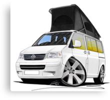 VW T5 California Camper Van White Canvas Print